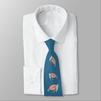 Gravata Tartarugas de mar azuis do mar