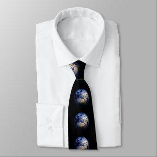 Gravata Terra azul do mundo inspirado do globo do espaço