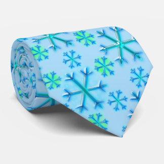 Gravata Teste padrão azul e branco do hexágono do floco de