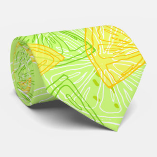 Gravata Teste padrão brilhante dos limões do citrino do