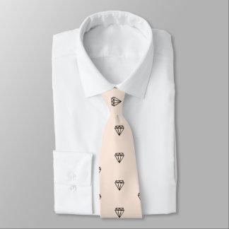 Gravata Teste padrão chique bonito do rosa do diamante