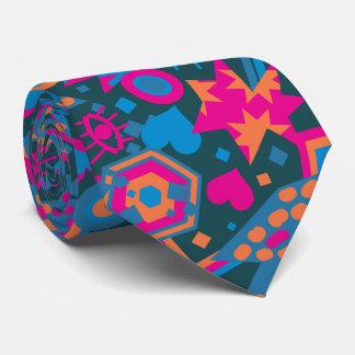 Gravata Teste padrão cor-de-rosa brilhante legal do pop