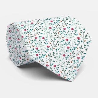 Gravata Teste padrão cor-de-rosa de florescência da
