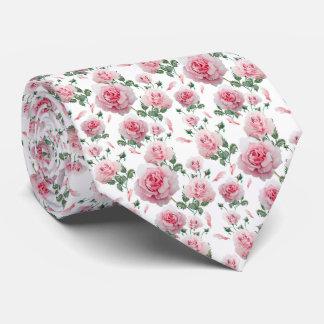 Gravata Teste padrão cor-de-rosa dos rosas do Scatter