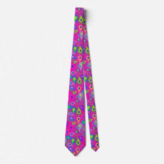 Gravata teste padrão cor-de-rosa roxo de paisley