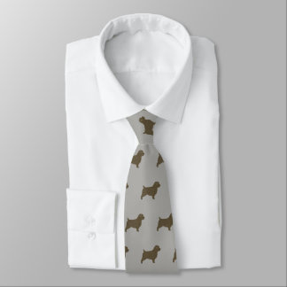 Gravata Teste padrão das silhuetas de Norfolk Terrier