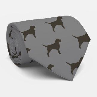 Gravata Teste padrão das silhuetas de Terrier de beira