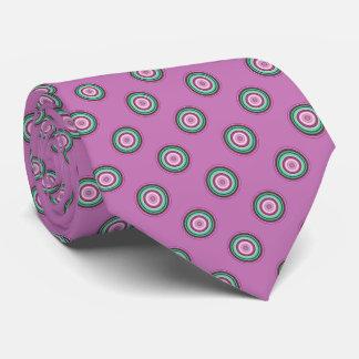 Gravata Teste padrão de bolinhas verde cor-de-rosa