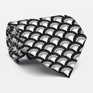 Gravata Teste padrão de onda do art deco - preto e branco