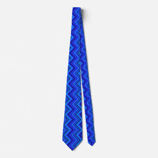 Gravata Teste padrão de ziguezague das listras azuis