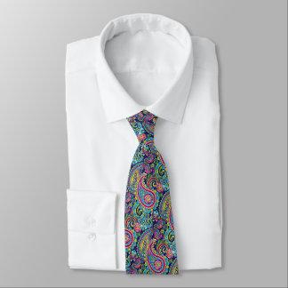 Gravata Teste padrão floral colorido brilhante chique