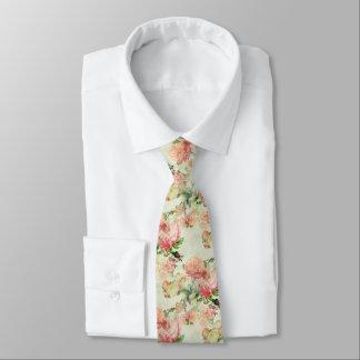 Gravata Teste padrão floral cor-de-rosa bonito dos rosas