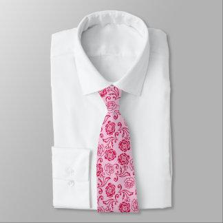 Gravata Teste padrão floral da estrutura de rosas de chá