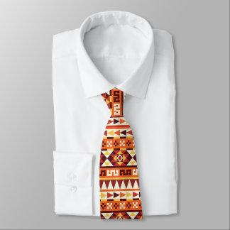 Gravata Teste padrão geométrico do estilo asteca