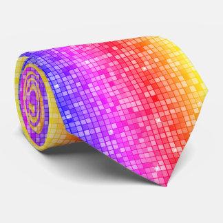 Gravata Teste padrão gráfico moderno do bloco, arco-íris -