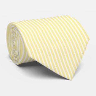 Gravata Teste padrão listrado mínimo amarelo e branco