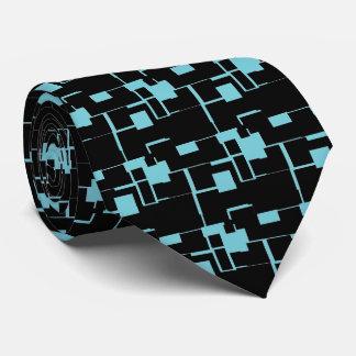 Gravata Teste padrão preto/azul legal na moda