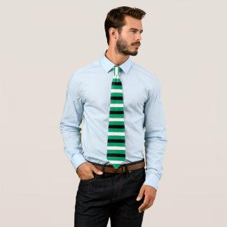 Gravata Teste padrão preto, branco, Verde-ciano das