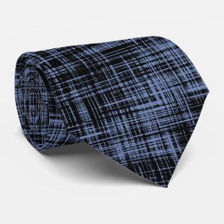 Gravata Teste padrão preto da listra do abstrato das