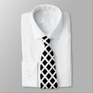 Gravata Teste padrão preto e branco da ilusão óptica da