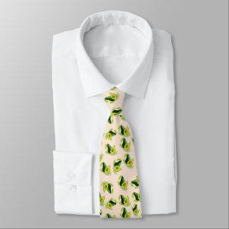 Gravata Teste padrão verde da aguarela dos abacates