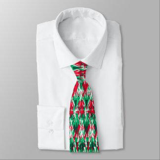 Gravata Teste padrão vermelho bonito do asteca do abstrato