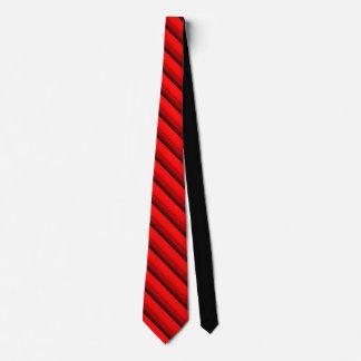 Gravata Teste padrão vermelho e preto da listra