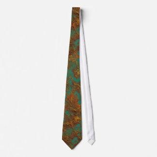 Gravata Textura de cobre da rocha de turquesa do Patina do