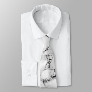 Gravata textura de mármore branca e preta elegante