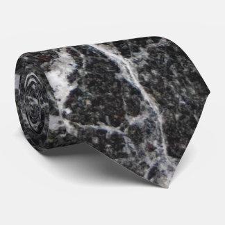 Gravata Textura de mármore preto e branco