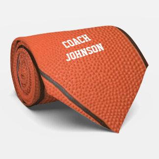 Gravata Textura do basquetebol personalizada