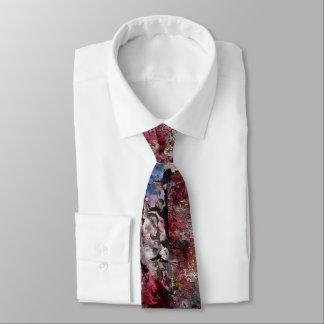 Gravata Tijolo azul e laço regular das flores