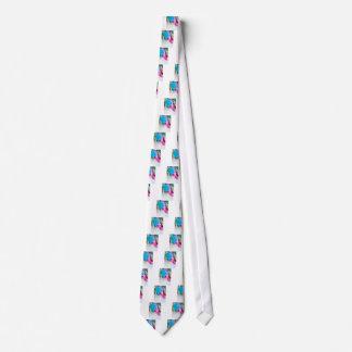 Gravata Tiro vertical da multi tulipa colorida incomum