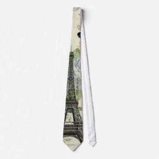 Gravata Torre Eiffel chique boémia floral de Paris do