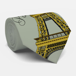 Gravata Torre Eiffel em cinzas