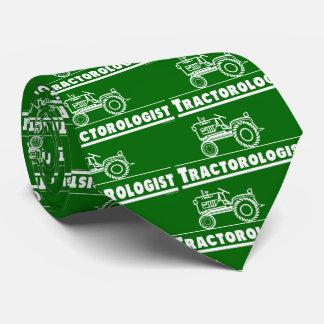 Gravata Trator verde engraçado de Tractorologist