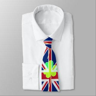 Gravata Trevo britânico irlandês St Patrick Reino Unido do