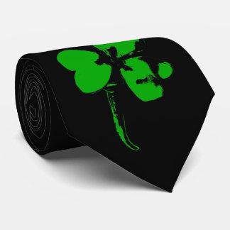 Gravata Trevo do verde do dia de St Patrick - laço