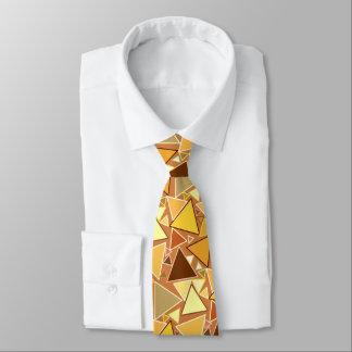 Gravata Triângulos modernos do meio século, amarelo da
