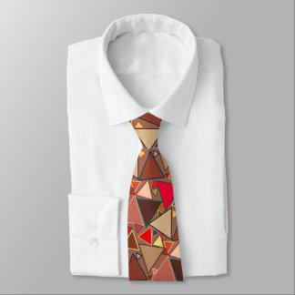 Gravata Triângulos modernos do meio século, Taupe, Brown,