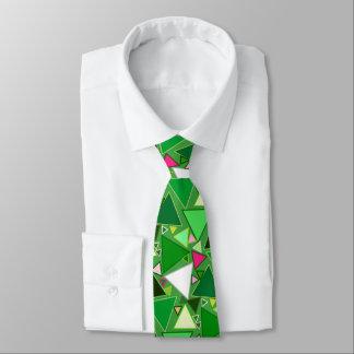 Gravata Triângulos modernos do meio século, verde limão