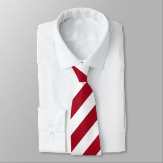 Gravata Uma listra apenas vermelha & branca