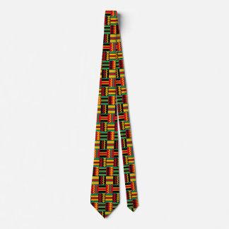 Gravata Verde amarelo vermelho do orgulho africano