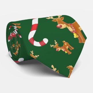 Gravata Verde bonito do teste padrão do bastão de doces de