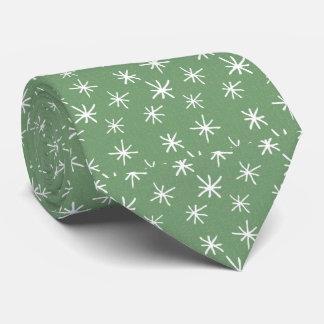 Gravata Verde com teste padrão de estrela retro