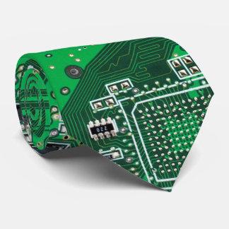 Gravata Verde do conselho de circuito do geek do