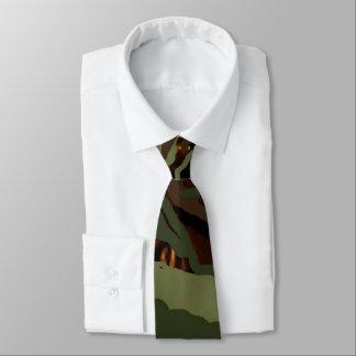 Gravata Verde do Design-Exército de Camoflauge