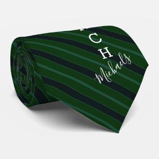 Gravata Verde do nome da assinatura do treinador de