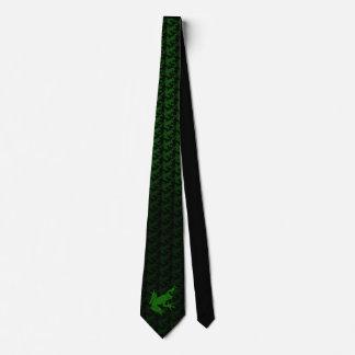 Gravata verde do sapo de árvore