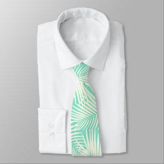 Gravata Verde havaiano da hortelã da folha das palmas de